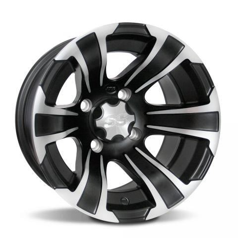 Jante ITP SS312 12 x 7, 4/110 Matte Black/Machined Accents